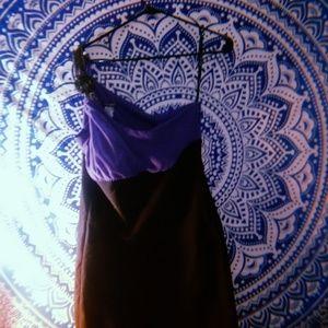 Purlple and black mini dress
